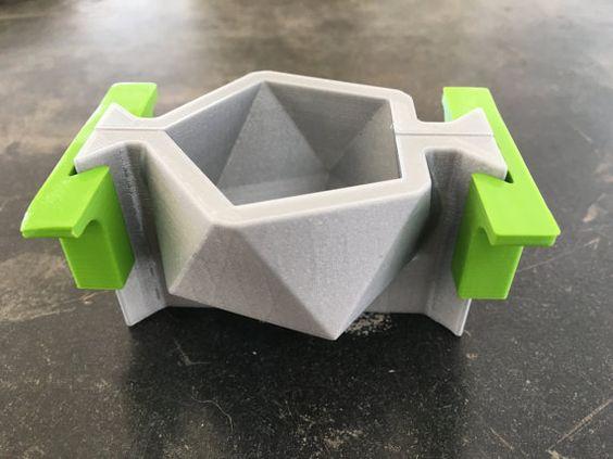 Icosaedro I molde 3D Impresso Mold geométrica por Edgehill3D