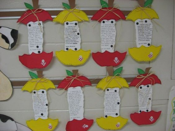 Apple Cores with expository paragraphs about apples.
