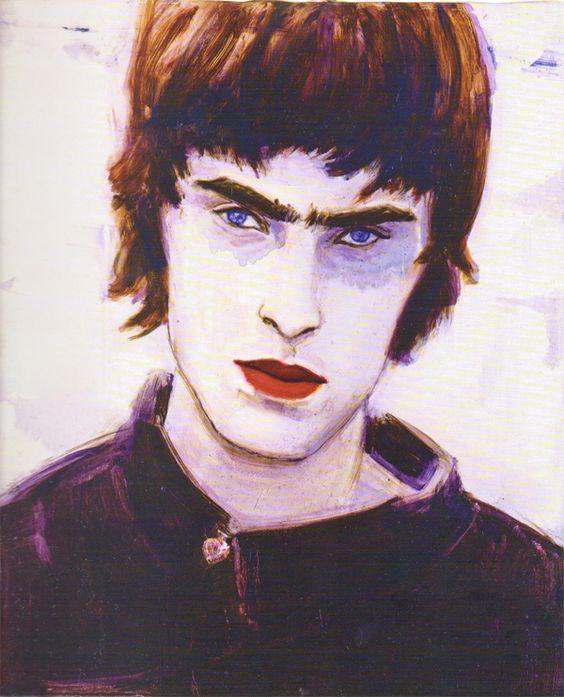 Blue Liam, 1996 by Elizabeth Peyton - oil on board.