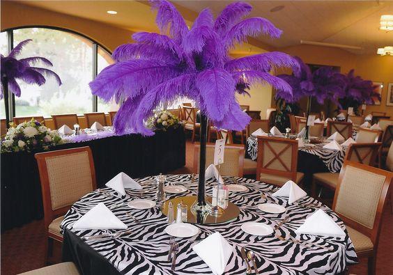 purple centerpiece centerpieces