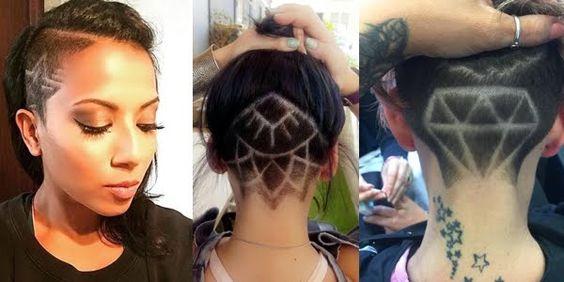Amazing Hidden Hair Tattoos by Cathryn John, UK!