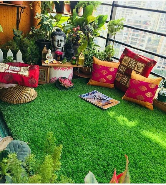 Artificial Grass Floor And Wall Decoration Bolkon Terrace Patio