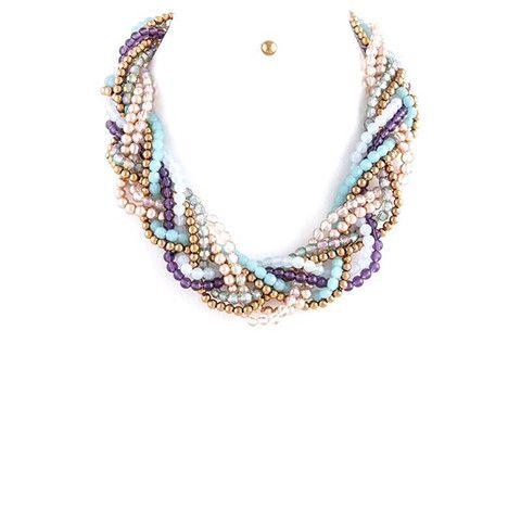 Beautiful Braid Necklace Set