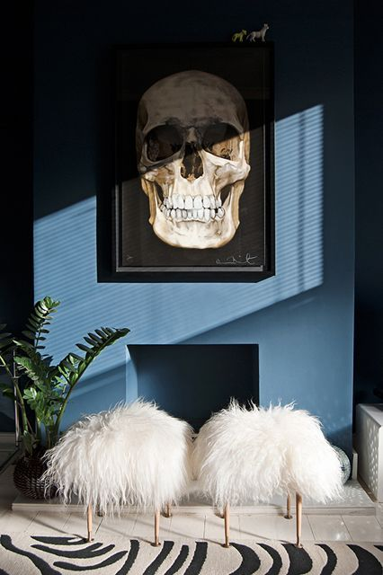 "7 Home Hacks That Will Make Your Friends Jealous #refinery29  http://www.refinery29.com/easy-home-decor-diy-materials#slide-4  Sheepskin RugsIn this ingenious DIY, designer Bianca Hall upholsters midcentury side tables with sheepskin, producing what she calls ""It Stools"" — a nod to the Addams Family's hair-covered cousin. ...:"