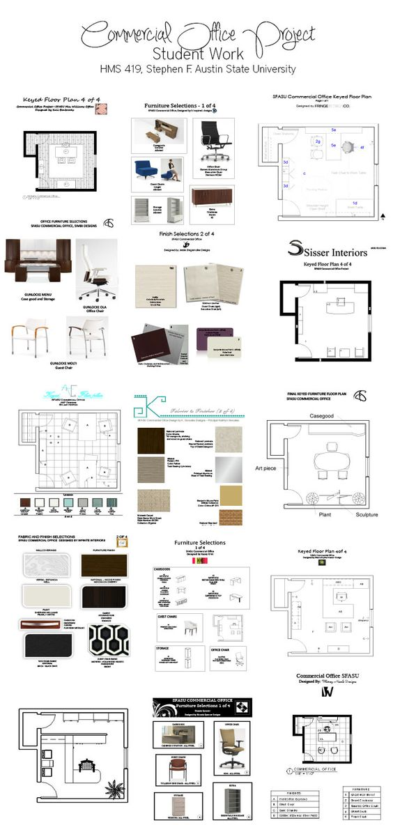SFASU Interior Design Students Work Commercial Office Project