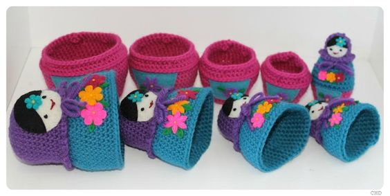 CHD: Russian Matryoshka Nesting Dolls Crochet Pattern
