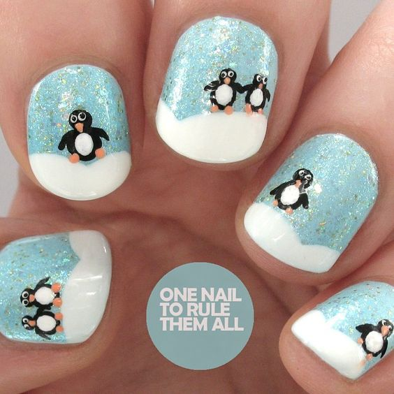 """Penguin snowscape for @beautyattesco"""