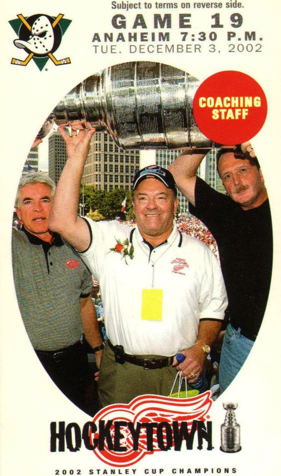 Left to Right: Barry Smith, Scotty Bowman and Dave Lewis. Love these boys!!!
