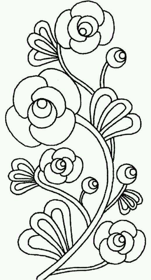 Epingle Par Lamia Abdelmouleh Ep Kessemtin Sur Patrones De Bordado Coloriage Fleur Coloriage Fleur Dessin Facile