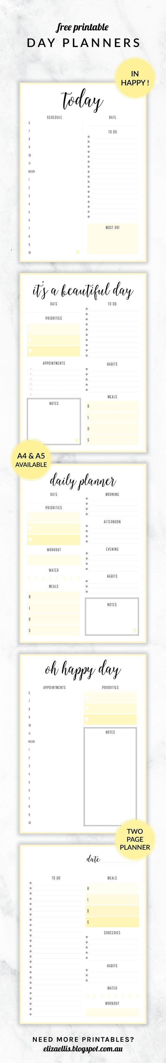 Microsoft Daily Planner Awesome Free Printables In Happyelizaellis #freeprintables  Free .