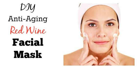 DIY Anti-Aging Red Wine Facial Mask