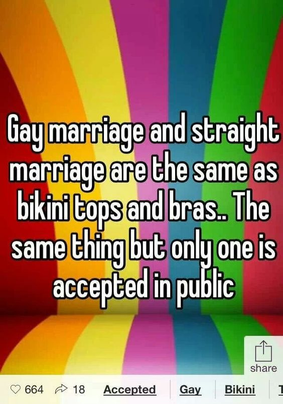 People believe that gay marriage and homosexual relationships are against nature. People will have delusions that their private businesses will be harmed due to simply the marriage of two same sexes.