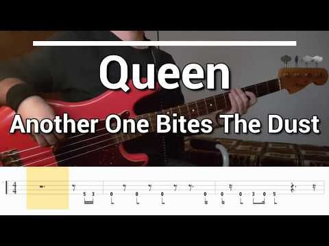 Queen Another One Bites The Dust Bass Cover Tabs Youtube