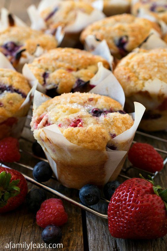 Our Mixed Berry Muffins are a wonderful taste of summer thanks to a generous…