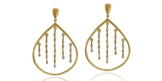 Earrings from Sandy Leong's Rain Collection for Diamonds with a Story™