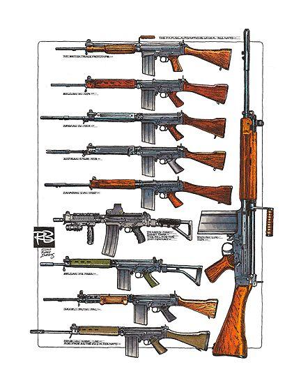 THE FN FUSIL AUTOMATIQUE LEGER COLOR PRINT