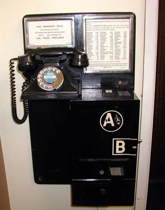This was our telephone in the early 1960's it was just across the road from where we lived, in a red telephone box: