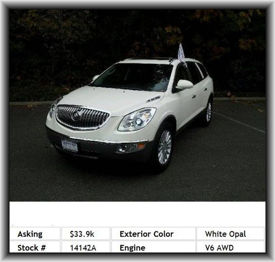 Buick Electric Car: 2010 Buick Enclave CXL SUV Theft-Deterrent System, Rear