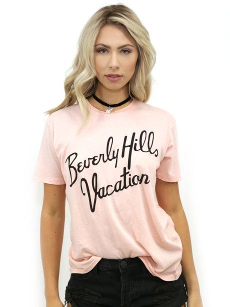 Love this: Beverly Hills Vacation Tee In Cotton Candy @Lyst