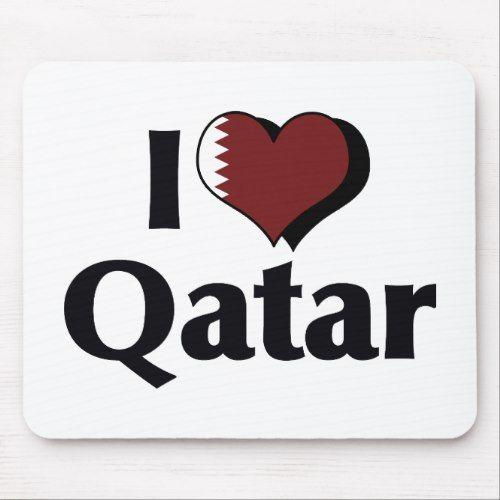 I Love Qatar Flag Mouse Pad Zazzle Com In 2020 Qatar Flag Flag Personalized Custom