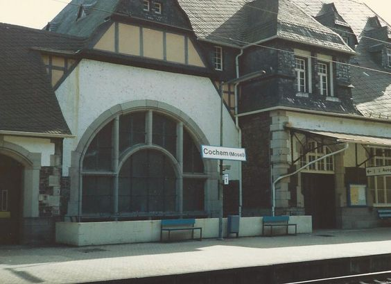Cochem, HBF, Germany.  Train station.  Feb '92.  stopped here for about an hr.  not long enough, really to get to know the city but long enough to know i liked it a bit.
