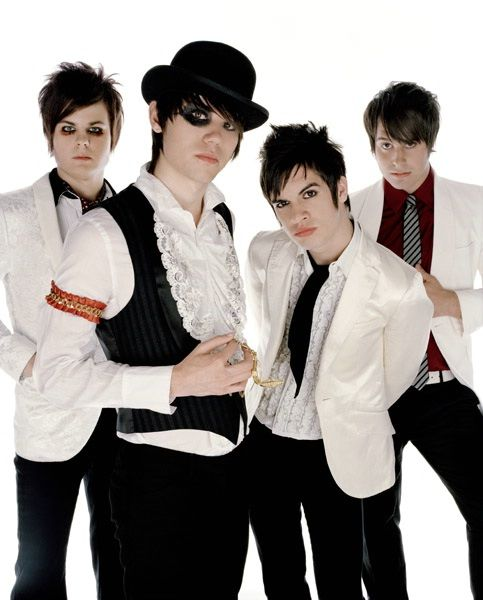 Panic! At the Disco. Ryan Ross and Spencer Smith- Having too much fin with makeup since 2005.