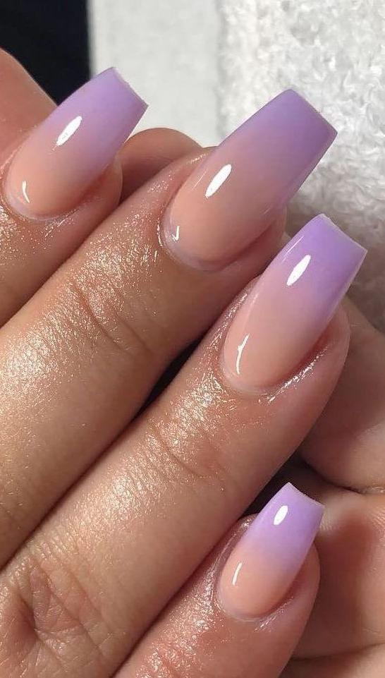 Purple Ombre Nails : purple, ombre, nails, Purple, Ombre, Nails,purple, Nails, Coffin,magenta, Nails,, Yellow, Acrylic, Designs