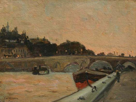 James Wilson MORRICE - Along The Seine, Paris (c. 1900)