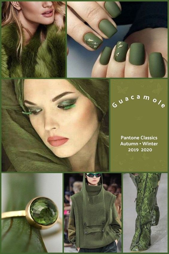 Guacamole  #pantone2020 Pantone's Guacamole Green Autumn Winter 2019-2020
