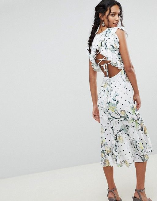 coupon code free delivery new high Hope and Ivy | Hope & Ivy Floral Printed Open Back Ruffle Detail ...