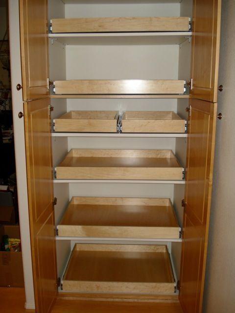 Pantry Shelving Pullout Drawer Pullout Shelf Pantry Organizer Sliding Shelf By Lara Pantry Shelving Deep Pantry Organization Deep Pantry