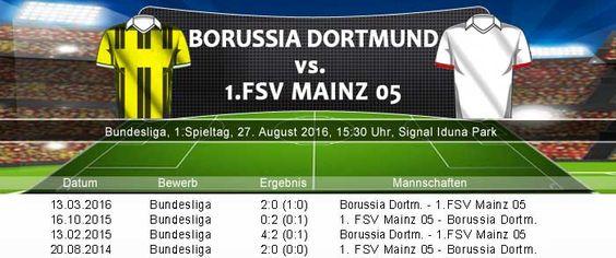 Bundesliga Spieltag 1: Borussia Dortmund gegen Mainz 05