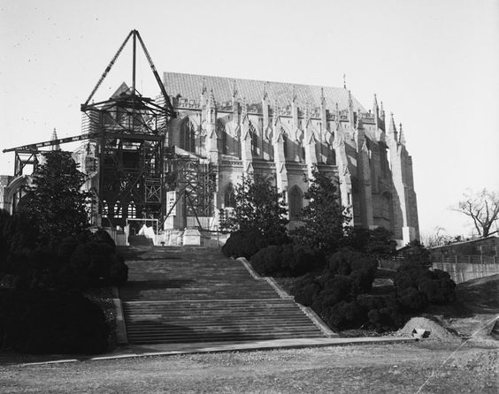 National Cathedral under construction between 1932 or 1933.
