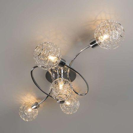 Deckenleuchte Krakau 5 Chrom #Deckenlampe #Lampe #Innenbeleuchtung - leuchte für badezimmer