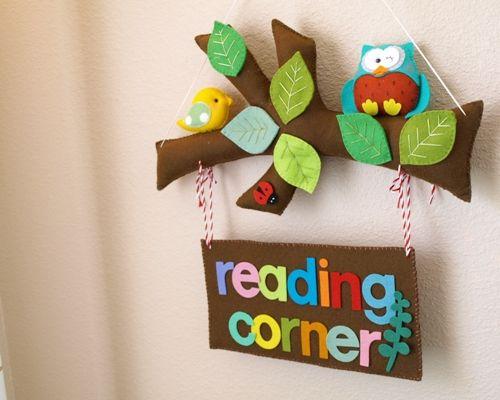 reading corner love this