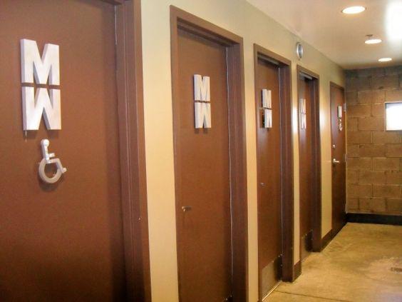Unisex bathrooms bathroom pinterest unisex bathroom for Office building bathroom design