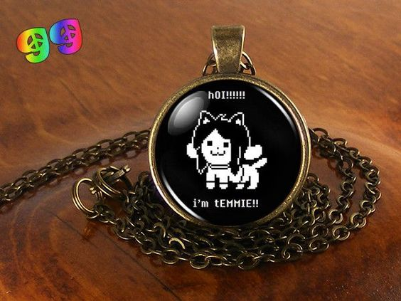 Undertale Temmie Gaming Necklace Chain & Pendant Charm Jewelry