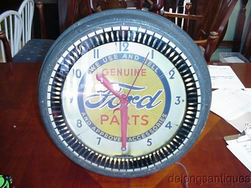 Ford Neon And Clock On Pinterest