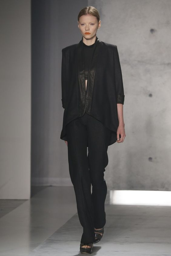 fabulous!!! i want those pants!! and the jacket! Sally LaPointe RTW Spring 2013 - WWD.com
