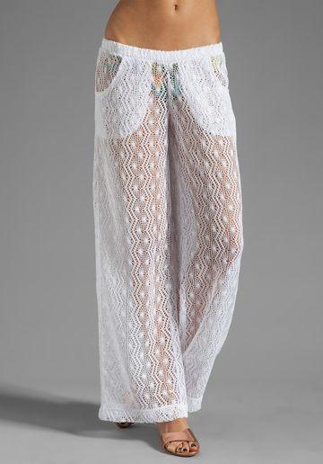 TRINA TURK Boho Crotchet Cover Pant in White at Revolve Clothing - Free Shipping!