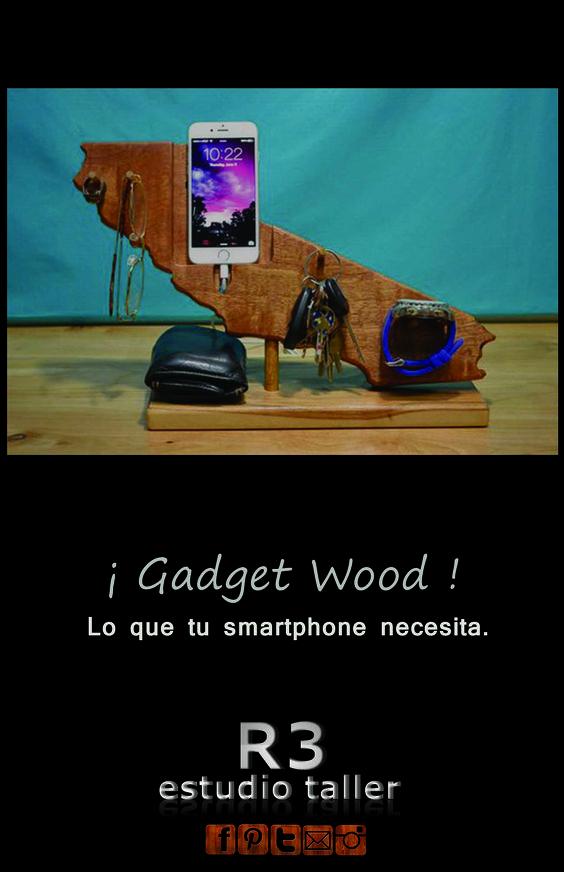 GADGET WOOD , ORGANIZADOR PARA SMARTPHONE.. NATURALEZA & TECNOLOGIA.... 100% RECICLAJE.