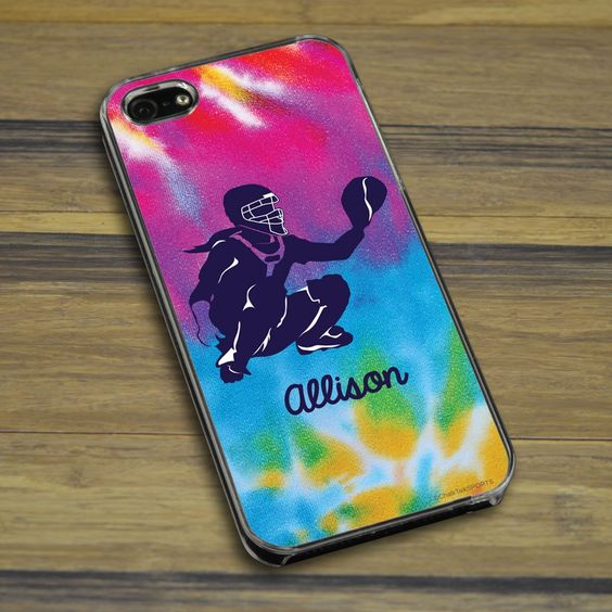Softball iPhone/Galaxy Case Personalized Girl Softball Catcher With Tie Dye | ChalkTalkSPORTS.com