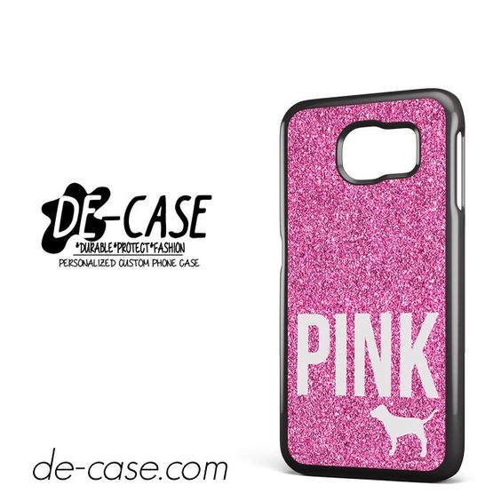Pink Glitter Victoria's Secret DEAL-8684 Samsung Phonecase Cover For Samsung Galaxy S6 / S6 Edge / S6 Edge Plus