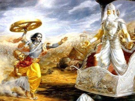 Krishna bhishma pitamah during Mahabharat war