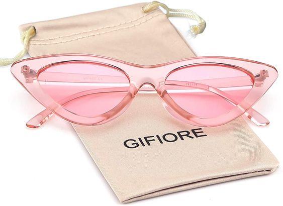 Amazon Com Retro Vintage Cat Eye Sunglasses For Women Clout Goggles Plastic Frame Glasses In 2020 Cat Eye Sunglasses Cat Eye Frame Sunglasses Vintage Sunglasses Retro