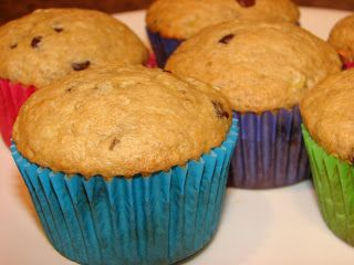 A Bear in the Kitchen: Banana Chocolate Chip Muffins