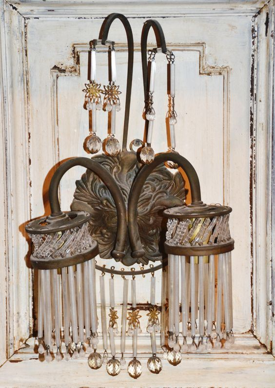 Antique French Chandeliers Wall Sconces European Lighting Home Decor USD 600.00 http://www ...