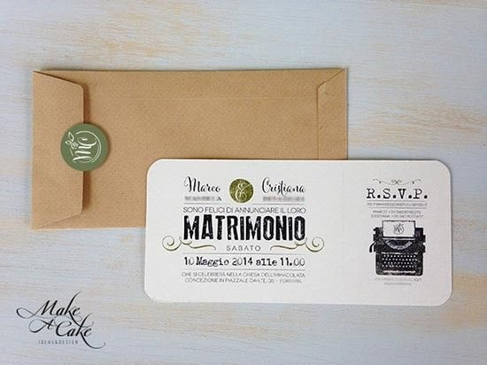 Partecipazioni vintage moderno. Wedding vintage and modern design invitations. #wedding #vintage
