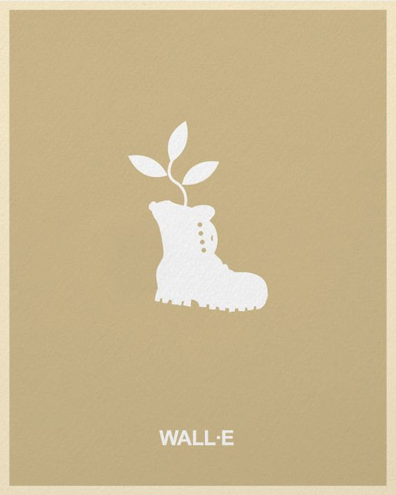 Minimalist Pixar Posters from Posterinspired - Wall-E