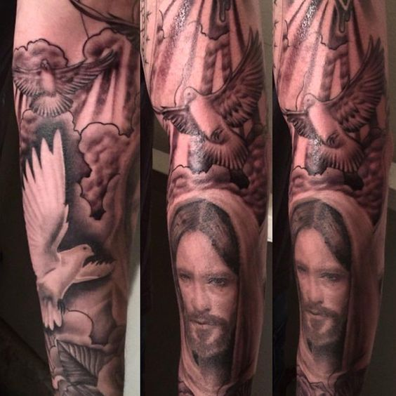awesome Top 100 Jesus Tattoos - http://4develop.com.ua/2016/01/30/top-100-jesus-tattoos/ Check more at http://4develop.com.ua/2016/01/30/top-100-jesus-tattoos/